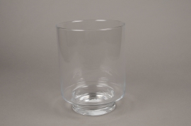 A006H9 Glass candle jar D18.5cm H24.5cm