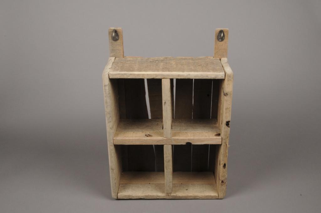 A006HY Natural wooden shelf H52cm