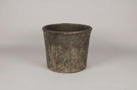 A006K5 Pot en résine gris D36.5cm H31cm