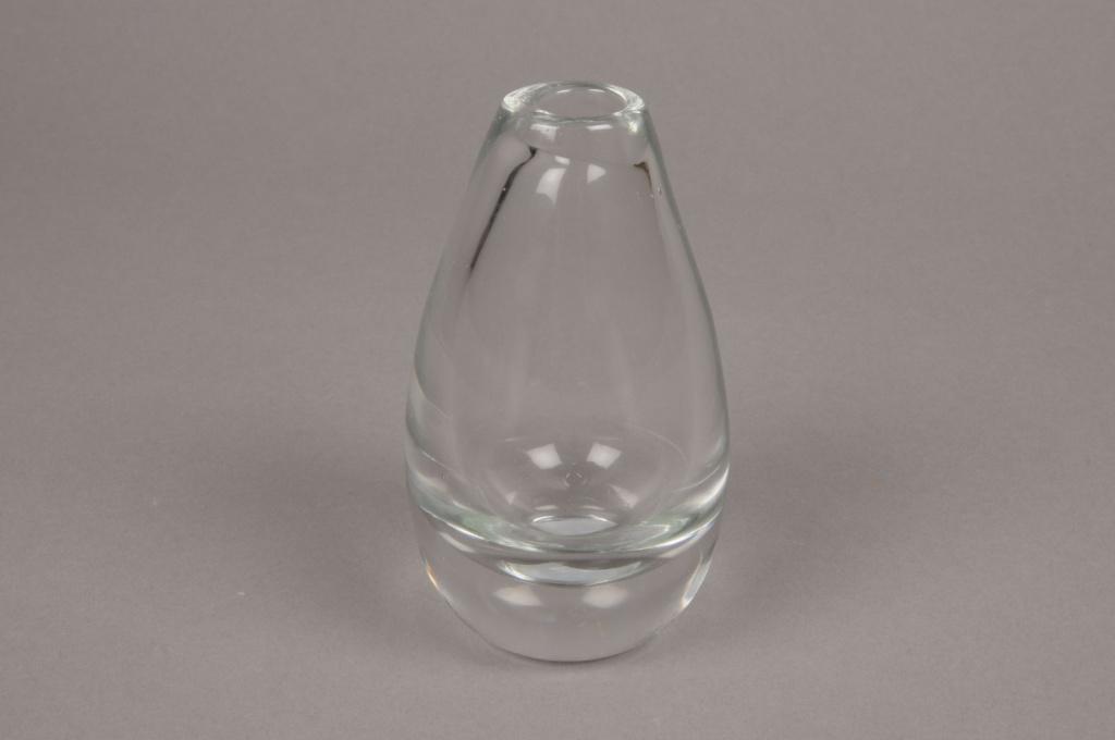 A006M0 Soliflore en verre épais D7cm H13cm