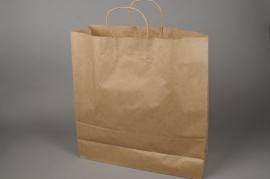 A006O6 Paquet de 50 sacs kraft naturel 46cm x 16cm H49cm