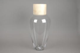 A006PW Glass vase bottle H60cm