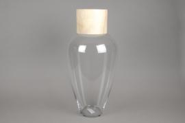 A006PW Bouteille en verre avec bouchon naturel D33cm H60cm