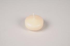 A006RP Boîte de 28 bougies flottantes crème