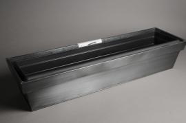 A006SF Zinc and plastic flower box 84x24cm H18cm
