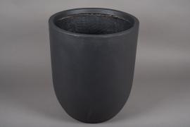 A006VV Grey fiber planter D43cm H50cm