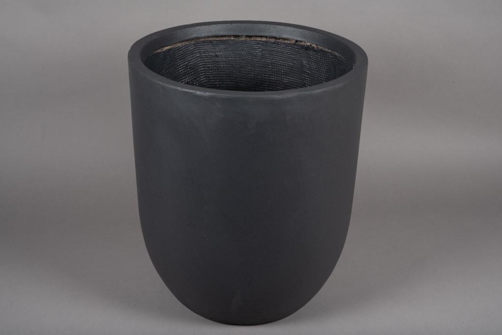 A006VV Pot fibre gris anthracite D43cm H50cm