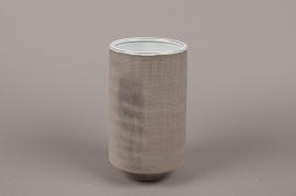 A006W5 Grey stoneware vase D11cm H20cm