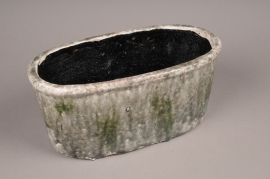 A006W6 Jardinière en céramique vert 30x15cm H14cm