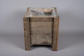 A006WT Jardinière en bois 43cm x 43cm H48cm