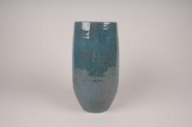 A006XD Vase céramique bleu D16cm H31cm
