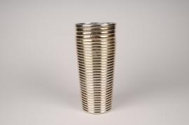 A007A3 Vase verre or D14cm H30cm