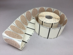 A007AI Rouleau de 1000 étiquettes kraft 5 x 3.2cm