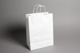 A007AS Bag of 25 white kraft bags 16cm x 8cm H21cm