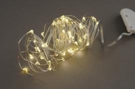 A007CO Set 5 guirlandes électriques 50 LED blanc chaud L5m