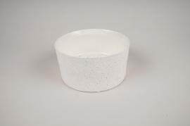 A007N8 Coupe en terre cuite blanc D17cm H8.5cm