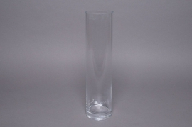 A007PQ Vase glass cylinder D10 H40cm