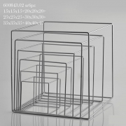 A007QL Set de 6 structures cubiques en métal H40cm