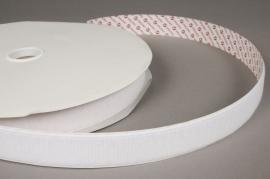 A007RL Ruban velcro crochet blanc 25mm x 25m