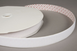 A007RL White velcro ribbon  25mm x 25m