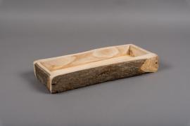 A007U7 Wooden plater 14.5 x 29cm H6cm