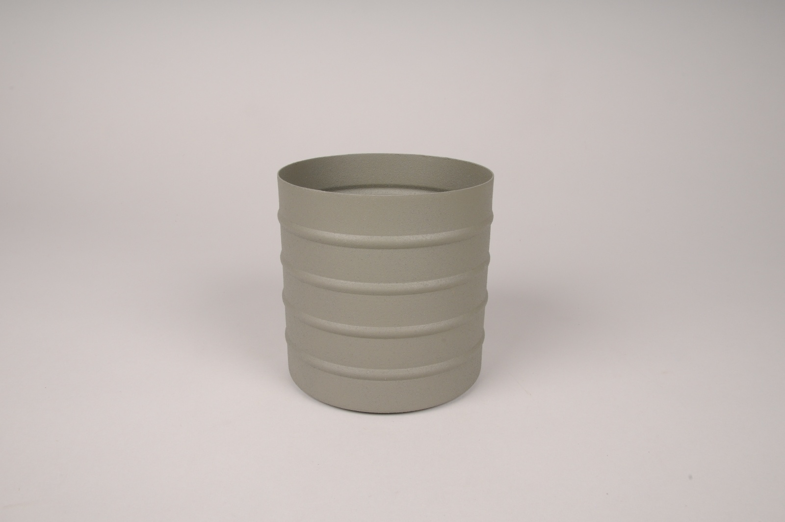 A007U9 Cache-pot en métal vert kaki D12cm H12cm