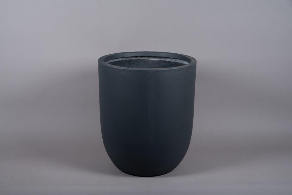 A007VV Cache-pot en fibre gris anthracite D52cm H60cm