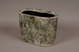 A007W6 Green ceramic planter 32x18cm H23cm