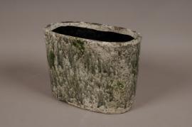 A007W6 Jardinière en céramique vert 32x18cm H23cm