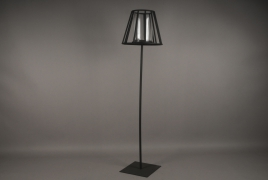 A007ZV Black metal stemmed light holder H148cm