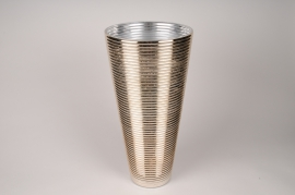 A008A3 Vase verre or D19cm H40cm