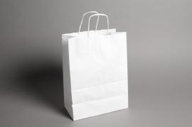 A008AS Paquet de 25 sacs kraft blanc 26cm x 12cm H36cm