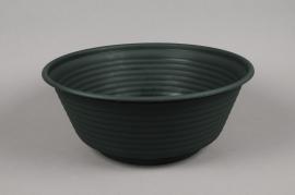 A008H7 Bowl plastic dark green D36cm H15cm