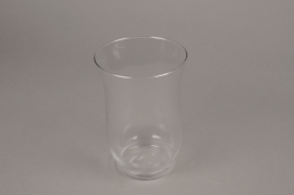 A008H9 Glass candle jar D13.5m H20cm