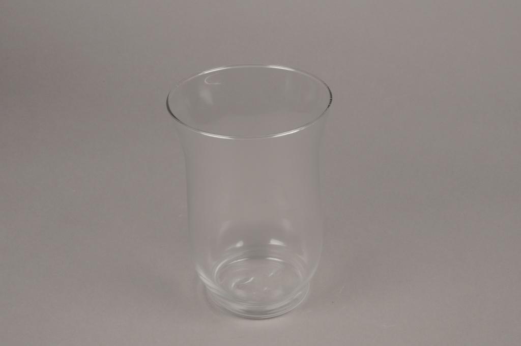 A008H9 Photophore en verre D13.5cm H20cm