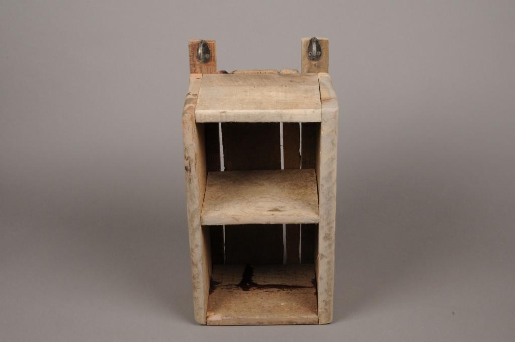 A008HY Etagère en bois naturel H41cm