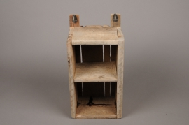 A008HY Natural wooden shelf H41cm