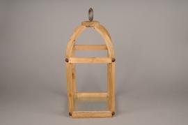 A008S0 Wooden lantern 17cm x 17cm H45cm