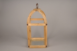 A008S0 Lanterne en bois 17cm x 17cm H45cm