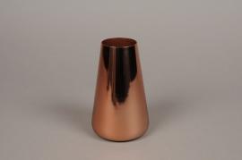 A008W0 Vase en métal cuivre H15cm