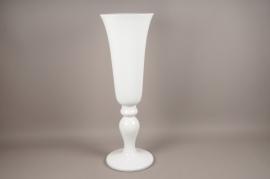 A008W7 Médicis en fibre de verre blanc D33cm H100cm