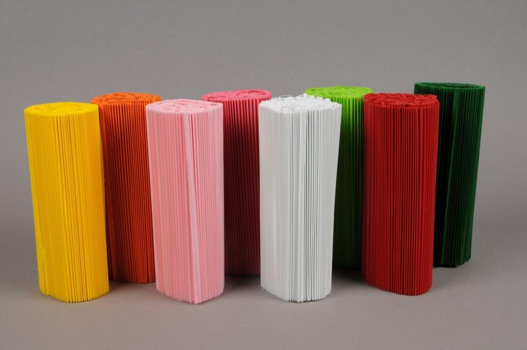 A008Z5 Paquet de 100 manchettes couleurs assorties H14cm