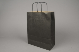 A009AS Bag of 25 black kraft bags 26x12cm H36cm