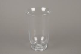 A009H9 Glass candle jar D15.5cm H25cm