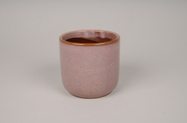 A009J6 Cache-pot en céramique rose D11.5cm H11.5cm
