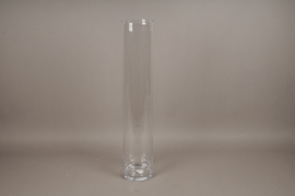 A009PQ Vase en verre cylindre D15cm H80cm