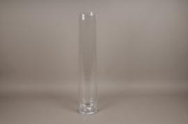 A009PQ Vase glass cylinder D15cm H80cm