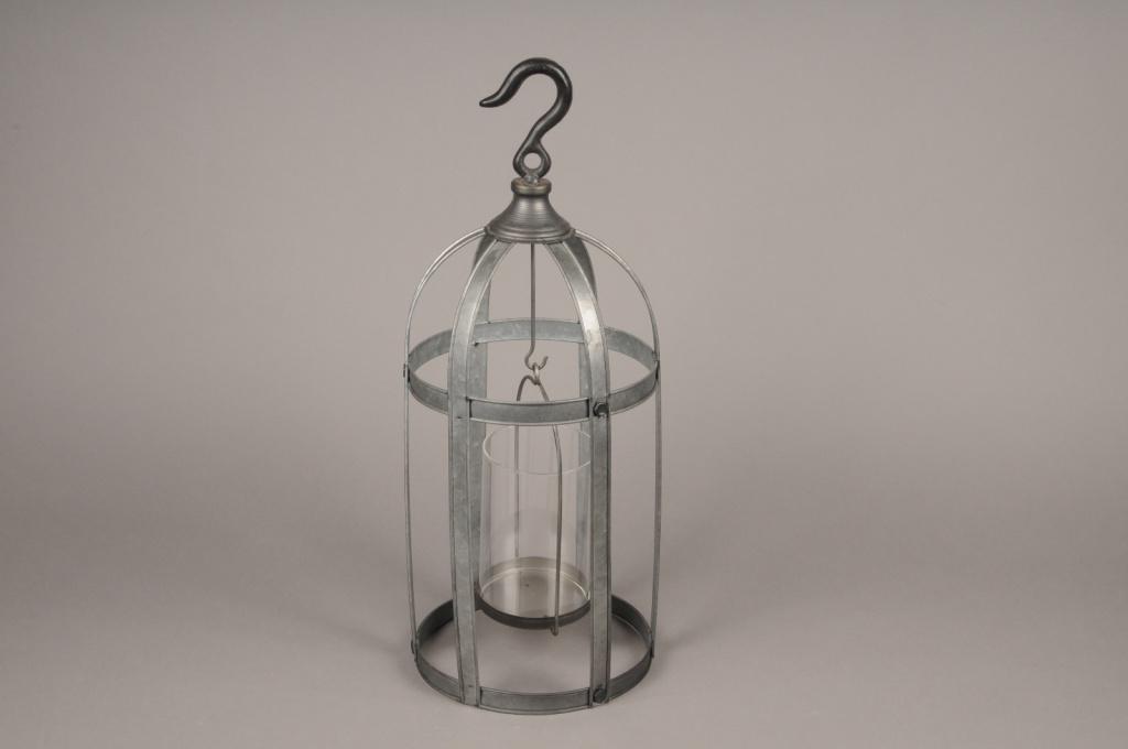 A009S0 Lanterne en métal vieilli D21.5cm H53cm