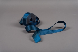 A009UN Blue satin ribbon 40mm x 25m