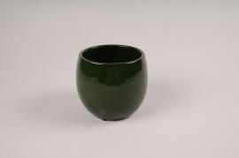 A009XD Cache-pot en céramique vert D18.5cm H17cm